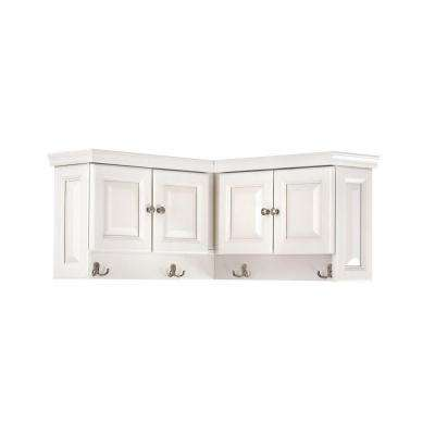 Walker 16 in. H x 30 in. W x 30 in. D Wooden Corner Wall Cabinet in White