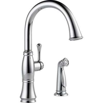 Cassidy Single-Handle Standard Kitchen Faucet with Side Sprayer in Chrome