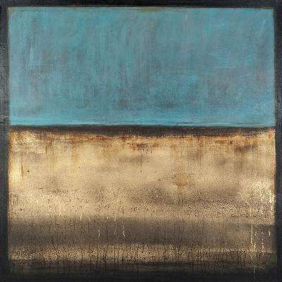 "40 in. x 40 in. ""Golden Horizons"" by Elias Printed and Painted Canvas Wall Art"