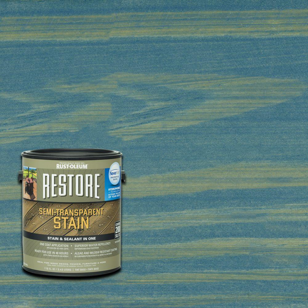 Rust-Oleum Restore 1 gal. Semi-Transparent Stain Lagoon with NeverWet