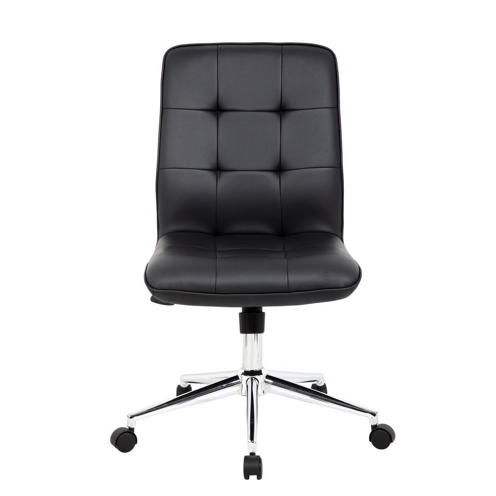 Superb Boss Black Modern Office Chair B330 Bk The Home Depot Interior Design Ideas Gentotryabchikinfo