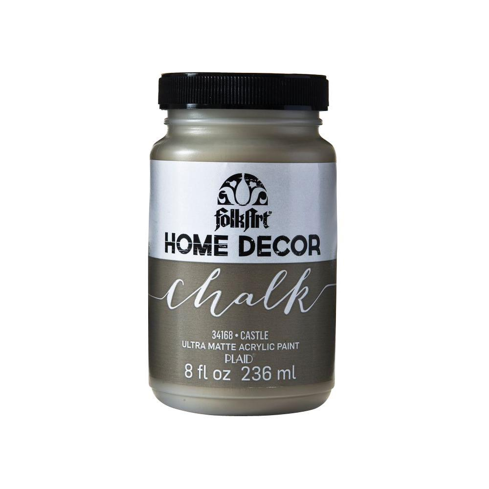 Home Decor 8 oz. Castle Ultra-Matte Chalk Finish Paint