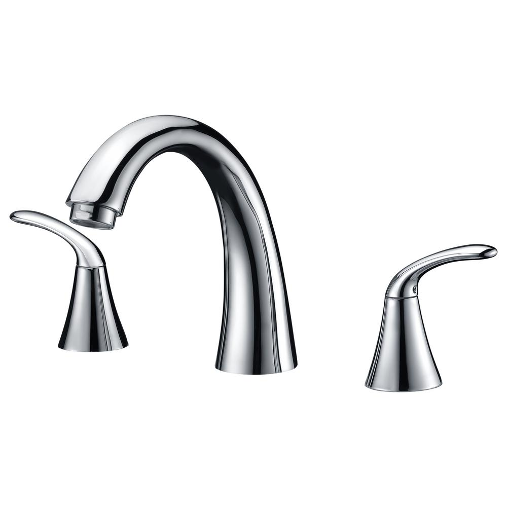 Note Series 2-Handle Deck-Mount Roman Tub Faucet in Polished Chrome