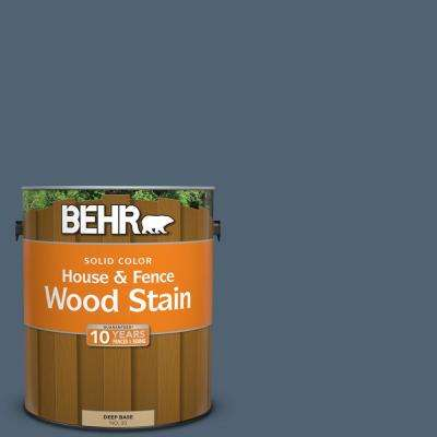 1 gal. #T17-17 Midnight Show Solid Color House and Fence Exterior Wood Stain