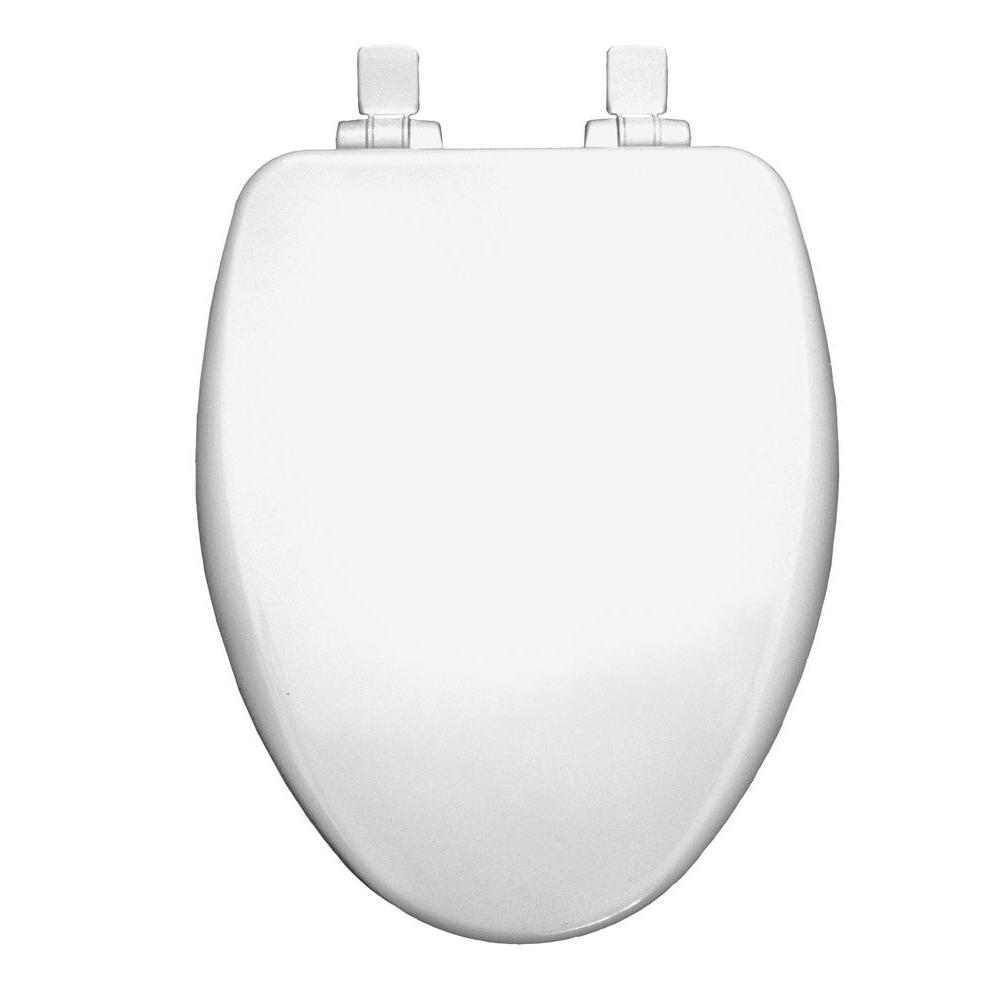 Church Elongated Closed Front Toilet Seat In Cotton White