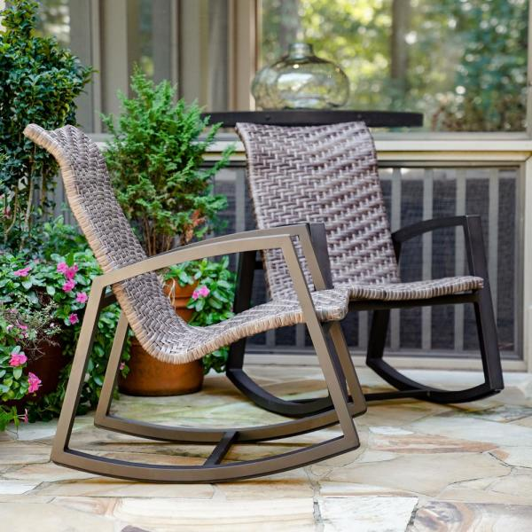Marion Wicker Outdoor Rocking Chair (2-Pack)
