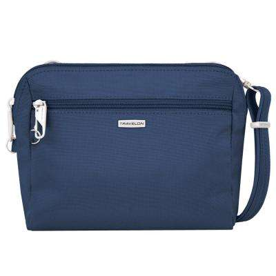 Anti-Theft Blue Convertible Crossbody and Waist Pack