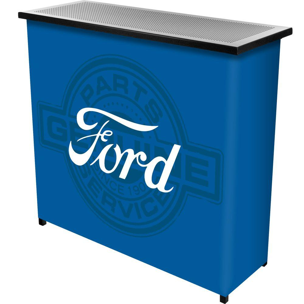 Ford Genuine Parts 2 Shelf Blue Bar With Case