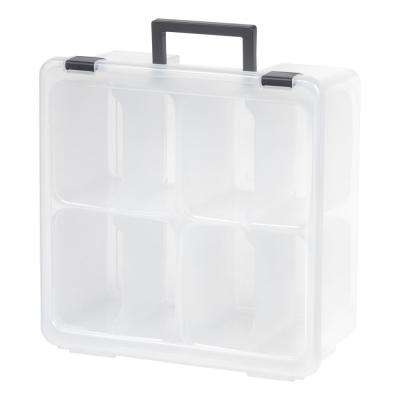 Divided Craft Storage Case in Clear