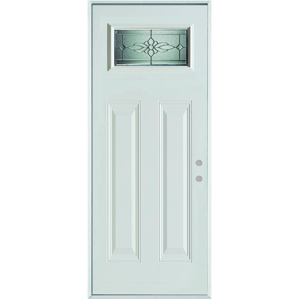 Stanley doors 32 in x 80 in victoria classic zinc for Stanley doors