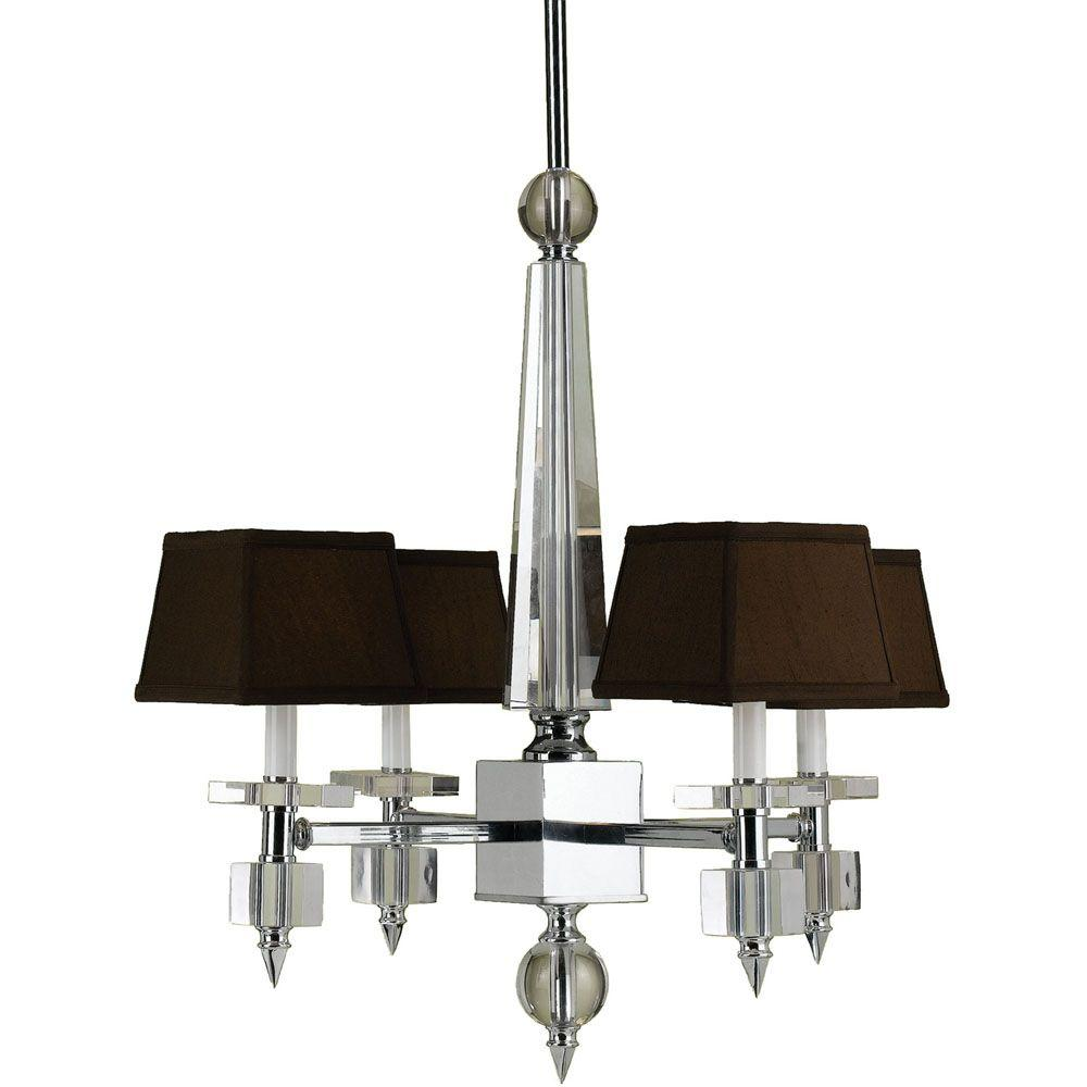 6686 4-Light Chrome Crystal Chandelier