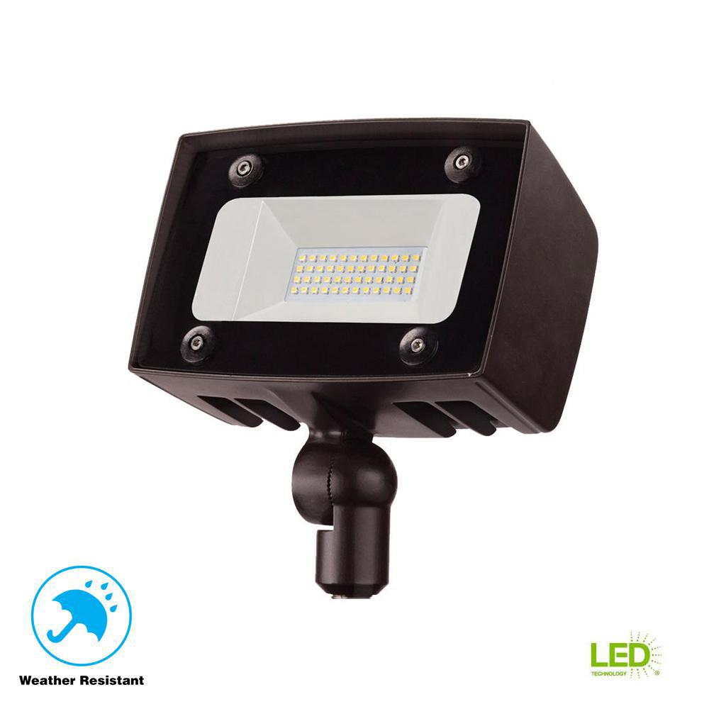 Architectural Dark Bronze Outdoor Integrated LED Flood Light with 2000 Lumens
