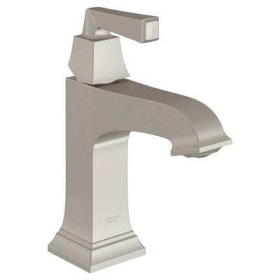 Town Square S Single Hole Single-Handle Monoblock Bathroom Faucet with Drain and WaterSense 1.2 GPM in Brushed Nickel