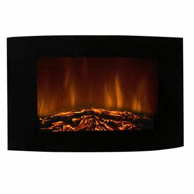 6 in. W x 22 in. H 1500-Watt X-Large Electric Adjustable Wall Mount Fireplace Heater with New Remote in Black