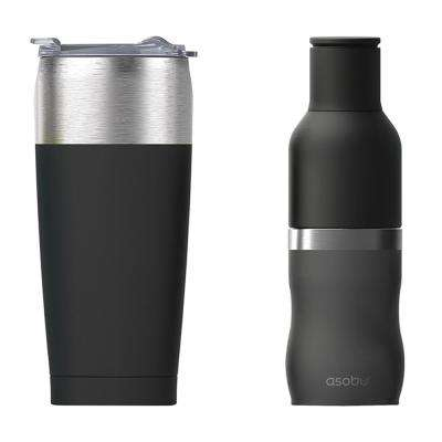 2-Piece 20 oz. Tied Tumbler and Frosty Drink Insulated Bottle Holder