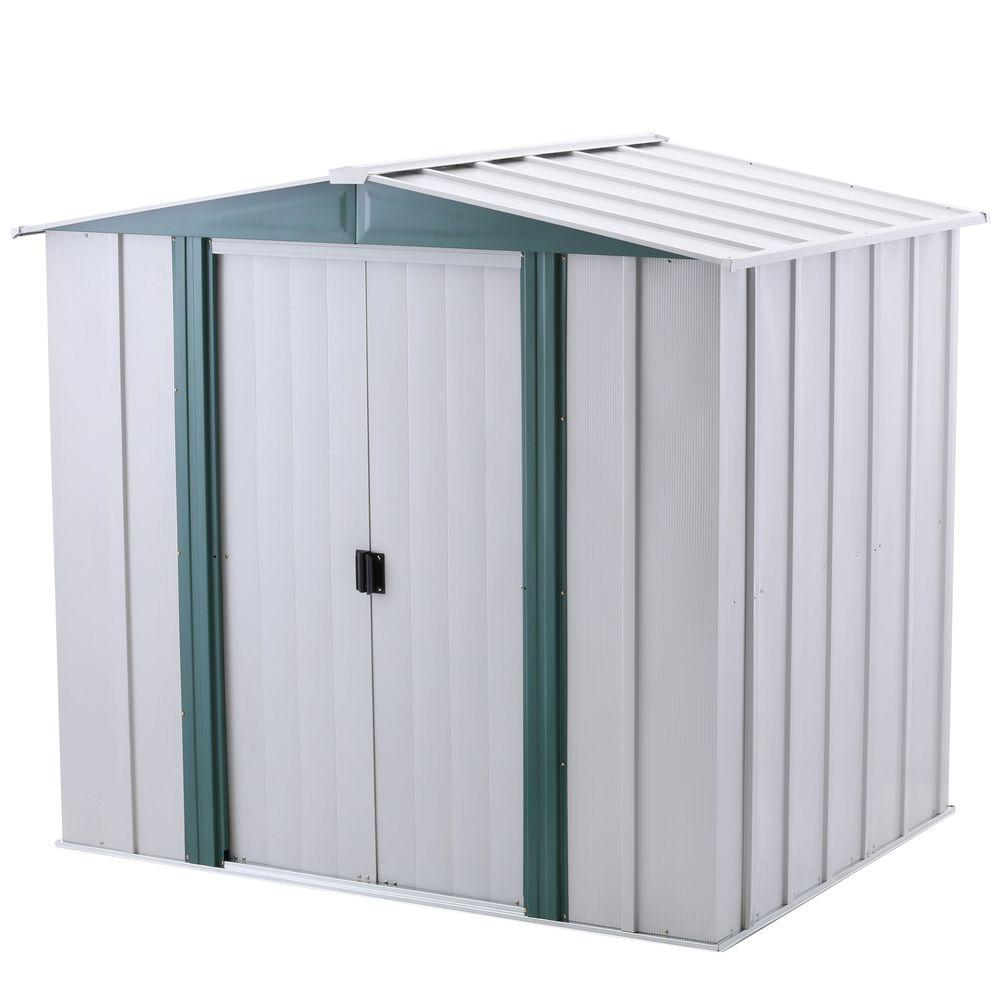 arrow hamlet 6 ft x 5 ft steel storage shed with floor kit