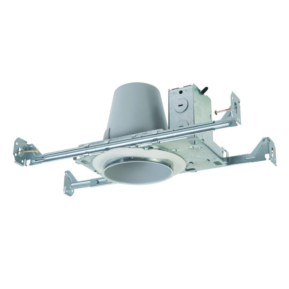 Halo E26 4 in. Steel Recessed Lighting Housing for New Construction Ceiling Non-  sc 1 st  The Home Depot : 4 recessed lighting housing - azcodes.com