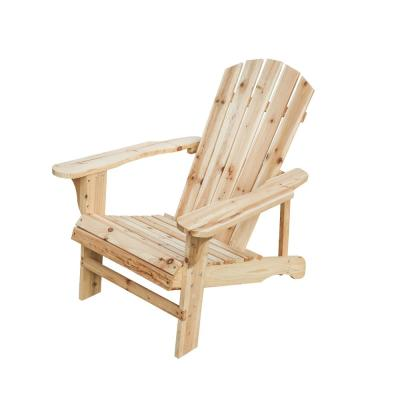 Classic Unfinished Wood Adirondack Chair
