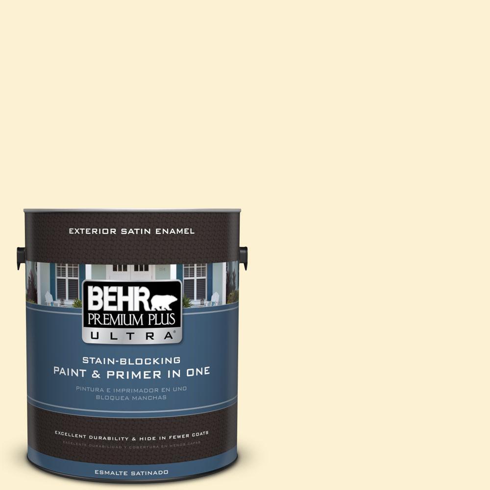 BEHR Premium Plus Ultra 1-gal. #P280-1 Summer Bliss Satin Enamel Exterior Paint