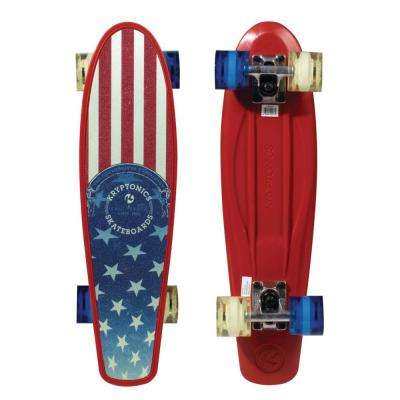 22.5 in. x 6 in. American Flag Complete Skateboard