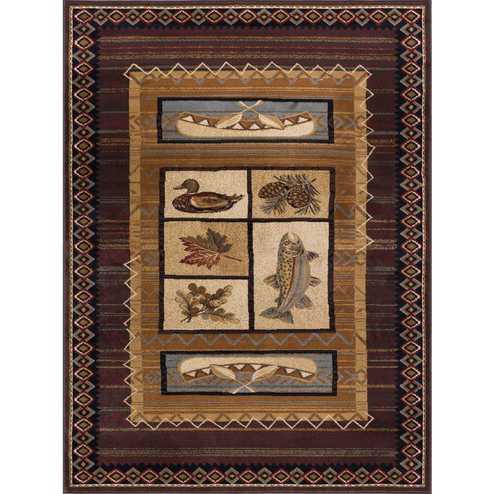 Tayse Rugs Nature Brown 4 ft. x 5 ft. Indoor Area Rug-NTR6538 4x6 - The Home Depot
