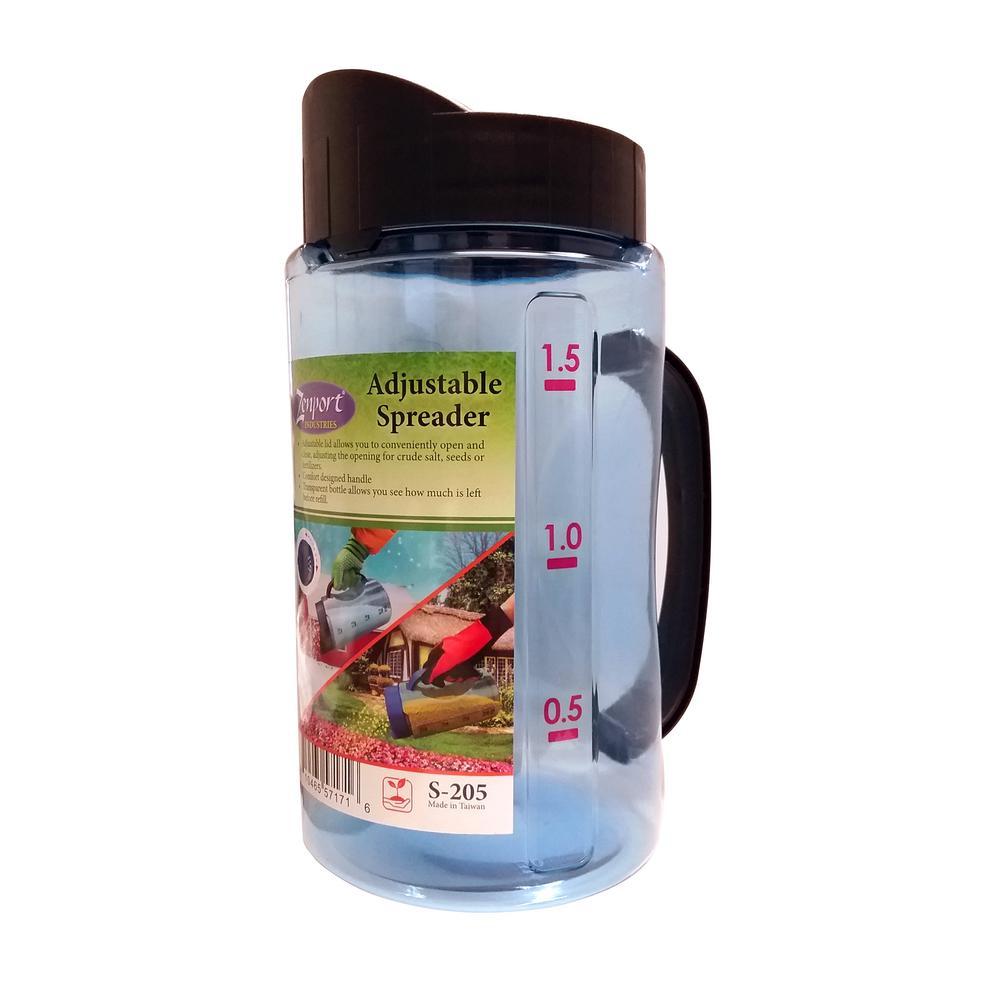 50 oz. Adjustable Fertilizer Spreader for Salt, Seeds or Fertilizer