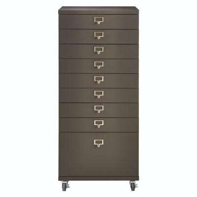 Becker 9-Drawer Gun Metal Cart