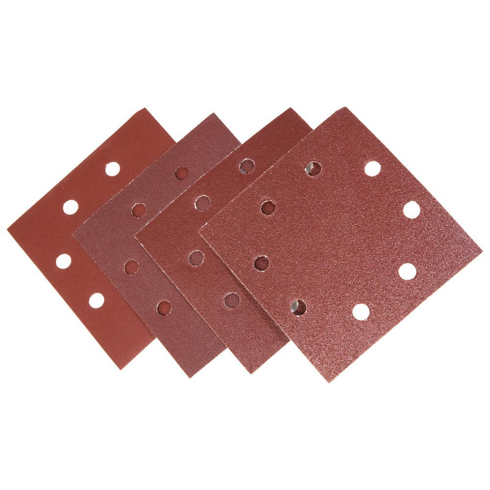 WEN 1/4-Sheet Sander Hook-and-Loop Sandpaper Assorted Grits (12 ...