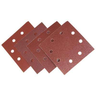 1/4-Sheet Sander Hook-and-Loop Sandpaper Assorted Grits (12-Pack)
