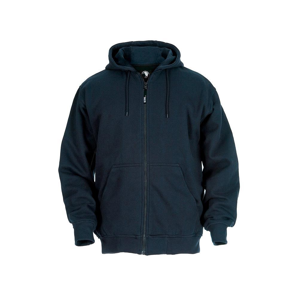 Berne Men's 5 XL Regular Navy 100% Polyester Original Hooded Sweatshirt