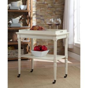 Pleasant Acme Furniture Frisco Tray Table In Antique White 82908 Home Interior And Landscaping Fragforummapetitesourisinfo