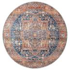 Ethel Medallion Fringe Rust 8 ft. Round Rug