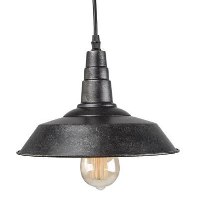Barnyard II 1-Light Blackened Steel Indoor Barn Light Ceiling Hanging Pendant
