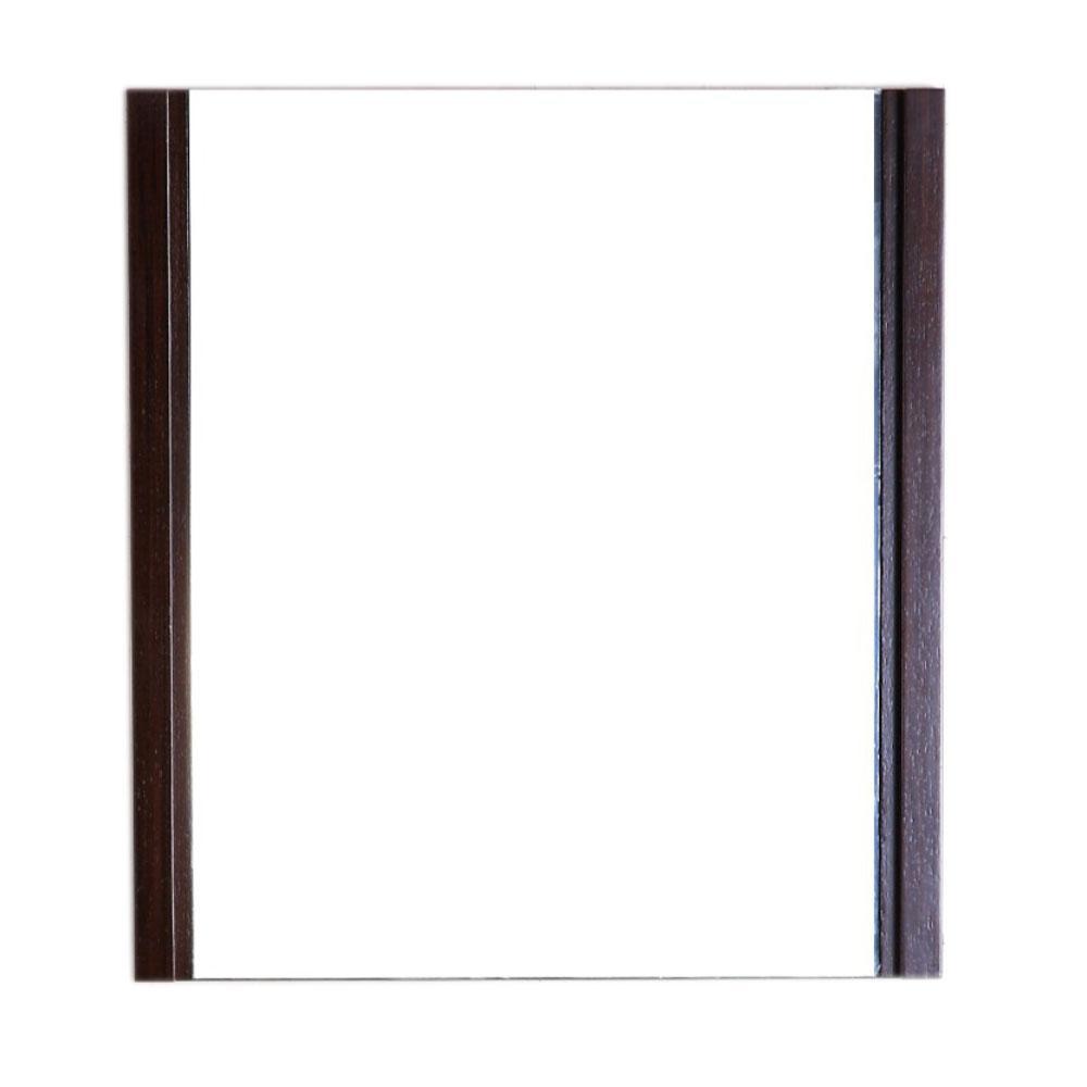 Bellaterra Home Ferndale 24 in. W x 1.8 in. D x 26 in. H Single Framed Wall Mirror in Wenge