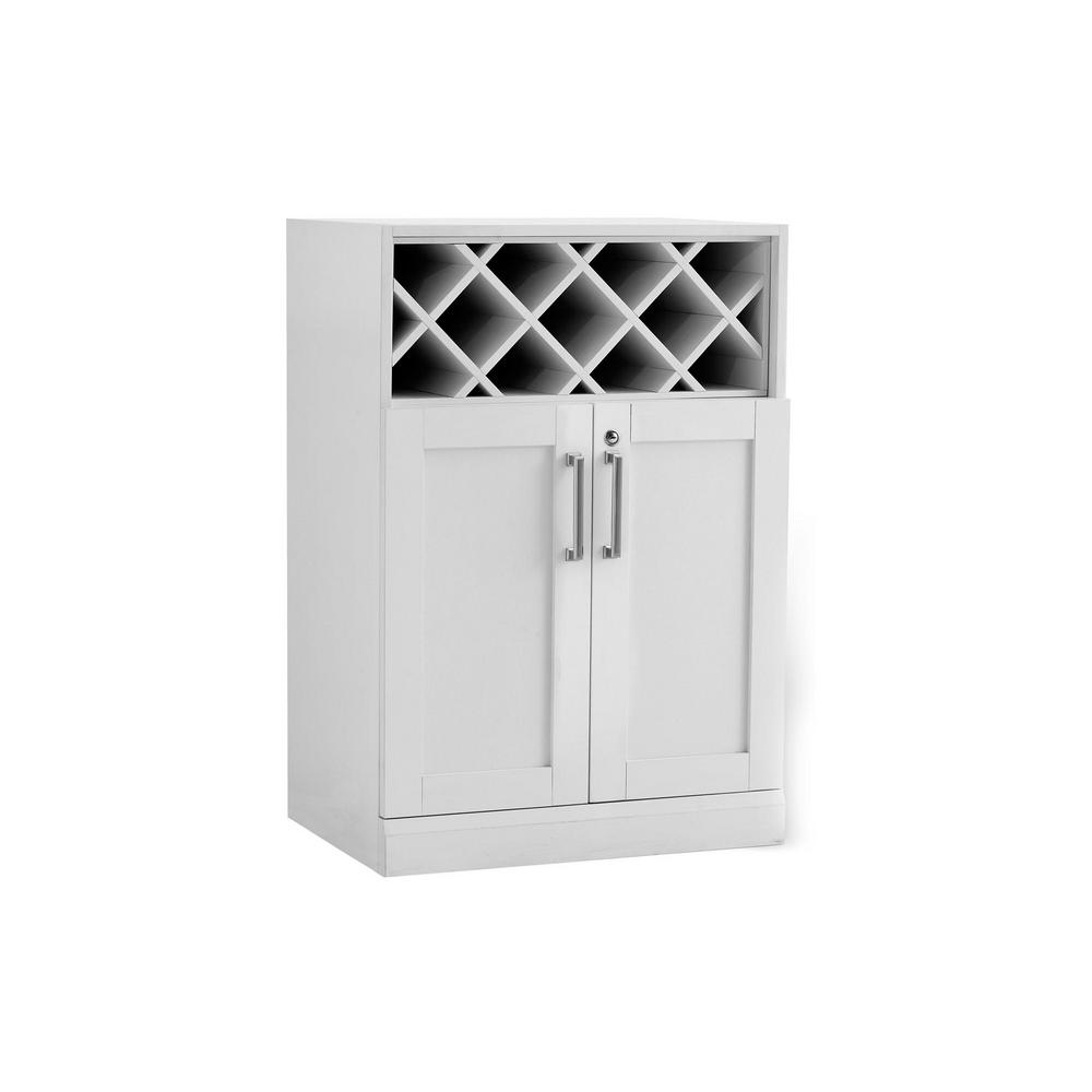 Newage Products Home Bar White 16 In Wine Storage Cabinet