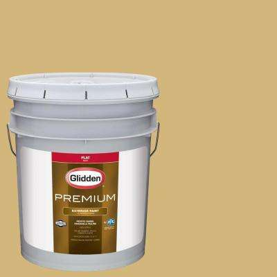 5-gal. #HDGY37D Spinning Straw Gold Flat Latex Exterior Paint