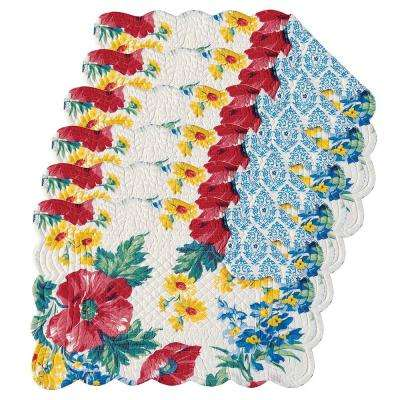 Madeline Blue Placemat (Set of 6)