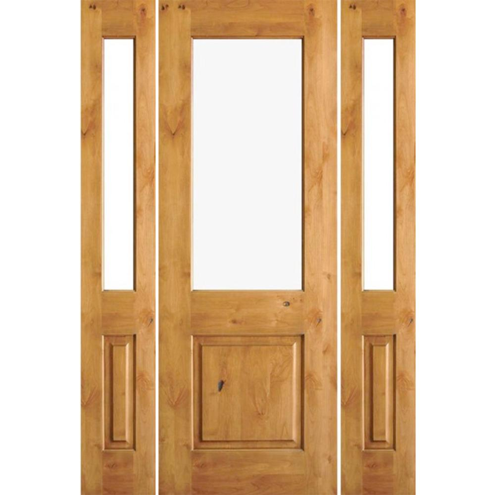 Krosswood Doors 30 In X 80 In Rustic Knotty Alder 2: Krosswood Doors 64 In. X 96 In. Rustic Knotty Alder Wood