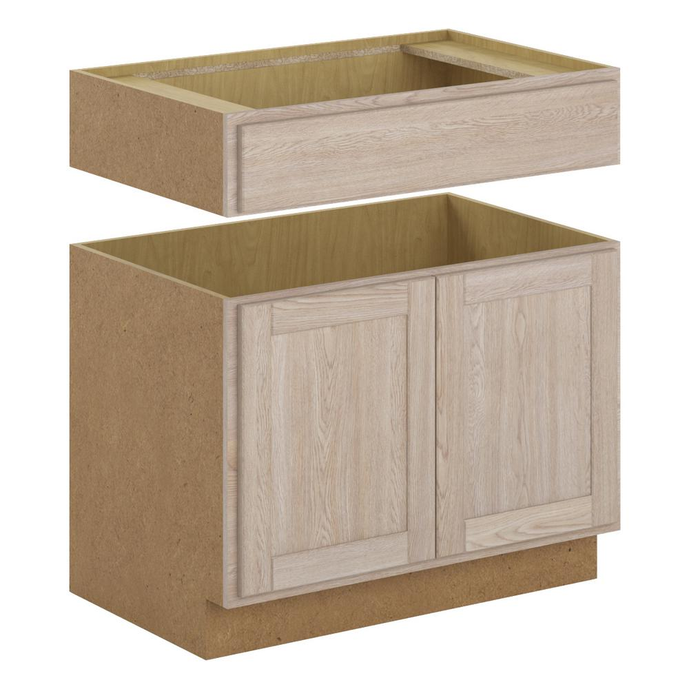 How To Stain Unfinished Kitchen Cabinets: Hampton Bay Stratford Assembled 36x34.5x24 In. Accessible