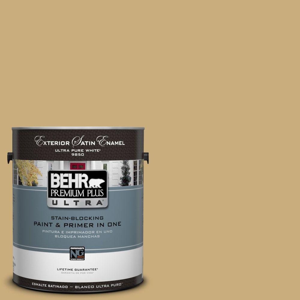 BEHR Premium Plus Ultra 1-Gal. #UL180-7 Cup Of Tea Satin Enamel Exterior Paint