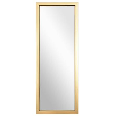 44 in. x 16 in. Champagne Rectangle Frame Classic Full Length on the Door Mirror for Bedroom
