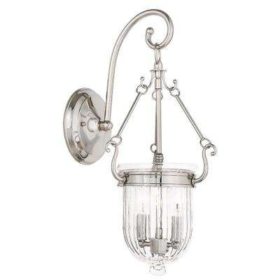 Coventry 2-Light Polished Nickel Wall Sconce