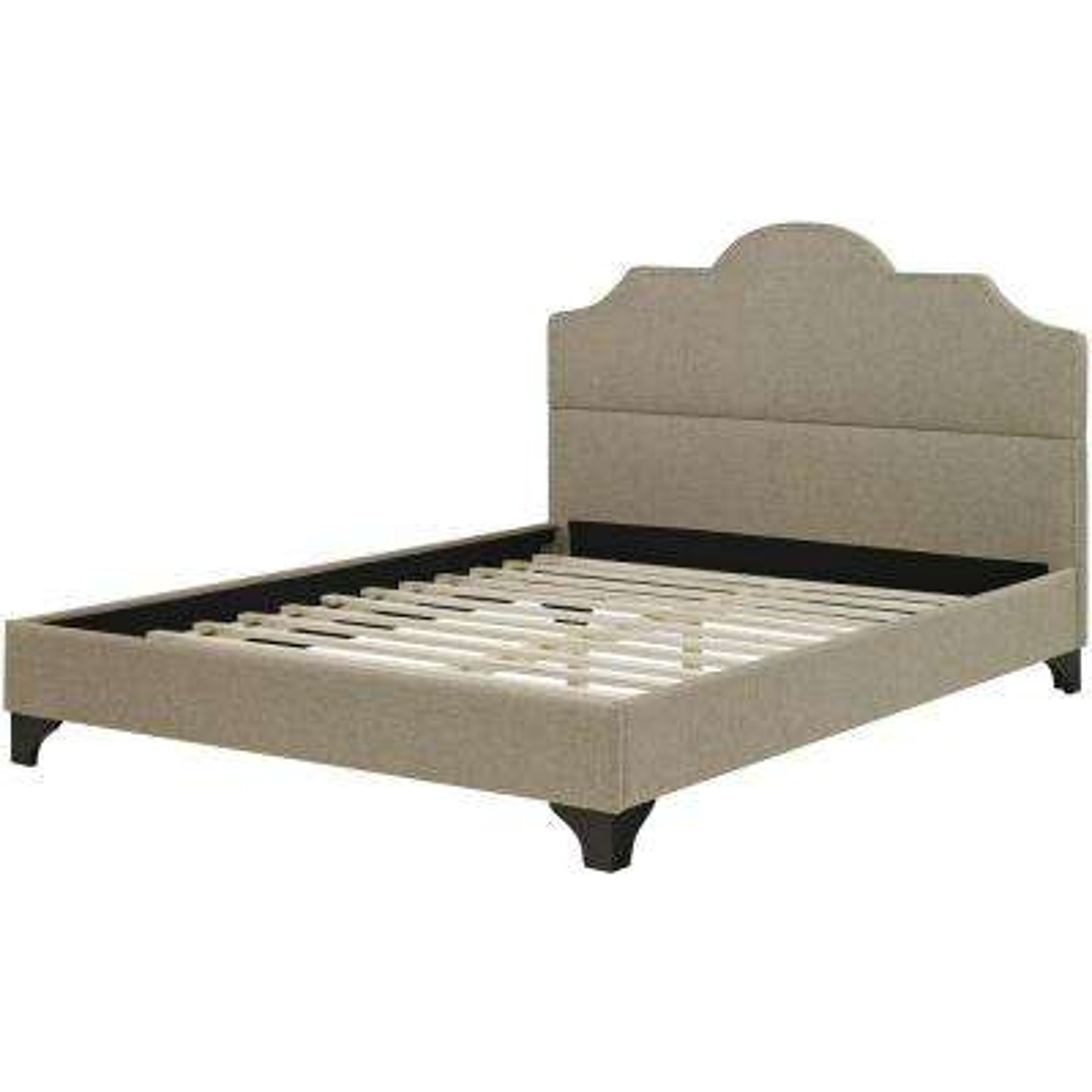 Paris Linen Tufted Full Platform Bed