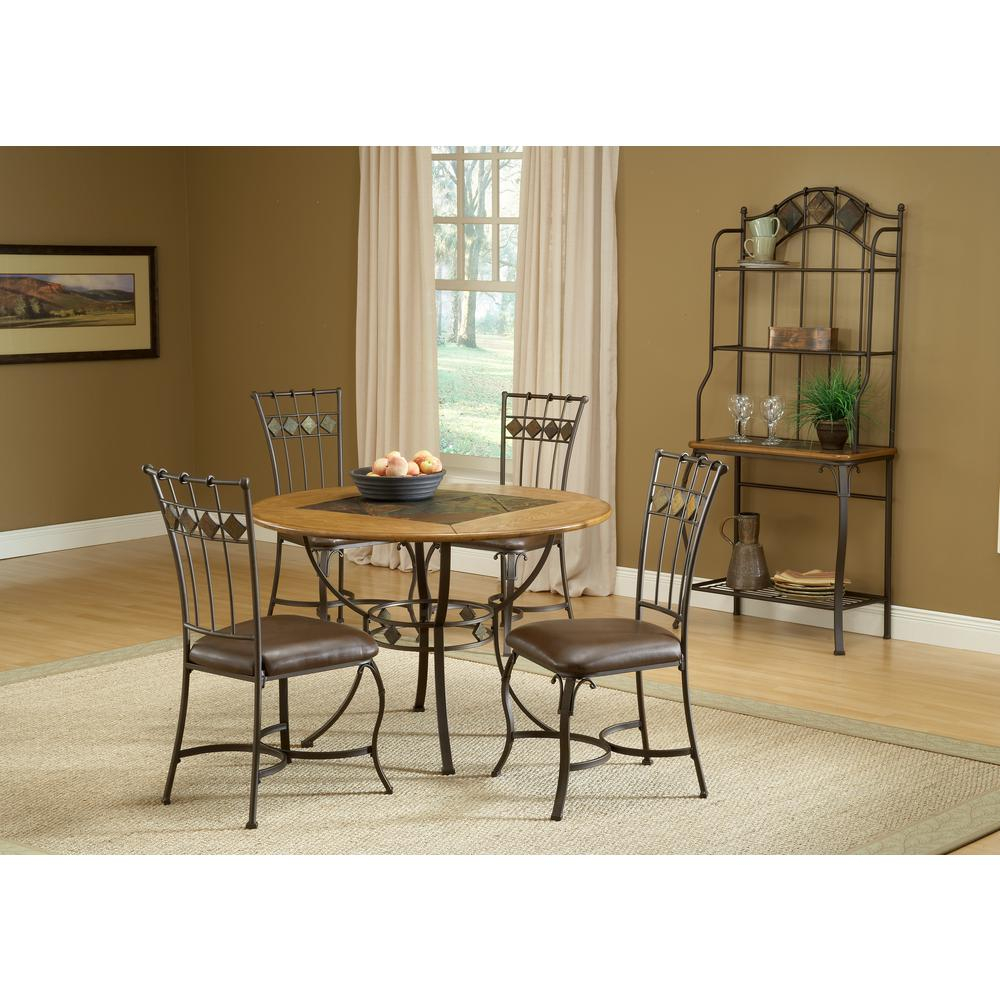 Hillsdale Furniture Lakeview 5-Piece Brown Copper Dining Set  sc 1 st  The Home Depot : slate top dining table set - pezcame.com
