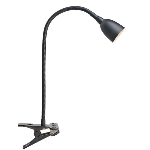 Olivia LED Flexible 22 in. Black Clamp Lamp with Dimming and Color Adjustable