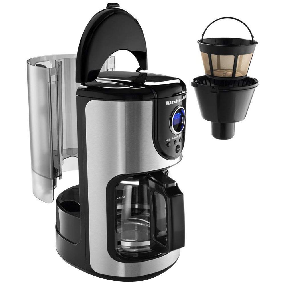 Kitchenaid 12 Cup Onyx Black Drip Coffee Maker With Glass