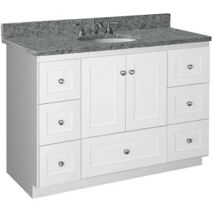 Simplicity By Strasser Shaker 48 In W X 21 In D X 34 5 In H Vanity Cabinet Only In Satin