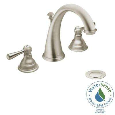 Kingsley 8 in. Widespread 2-Handle High-Arc Bathroom Faucet Trim Kit in Brushed Nickel (Valve Not Included)