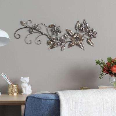 Floral River Bend Metal Wall Decor