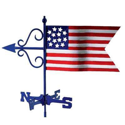 Americana Flag Garden Weathervane - with Garden Pole